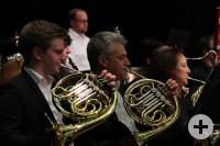 Die Hornisten des VHS-Orchesters Dettingen. Foto: Adrian Knauer