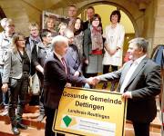 """Verleihung des Labels """"Gesunde Gemeinde"""""""