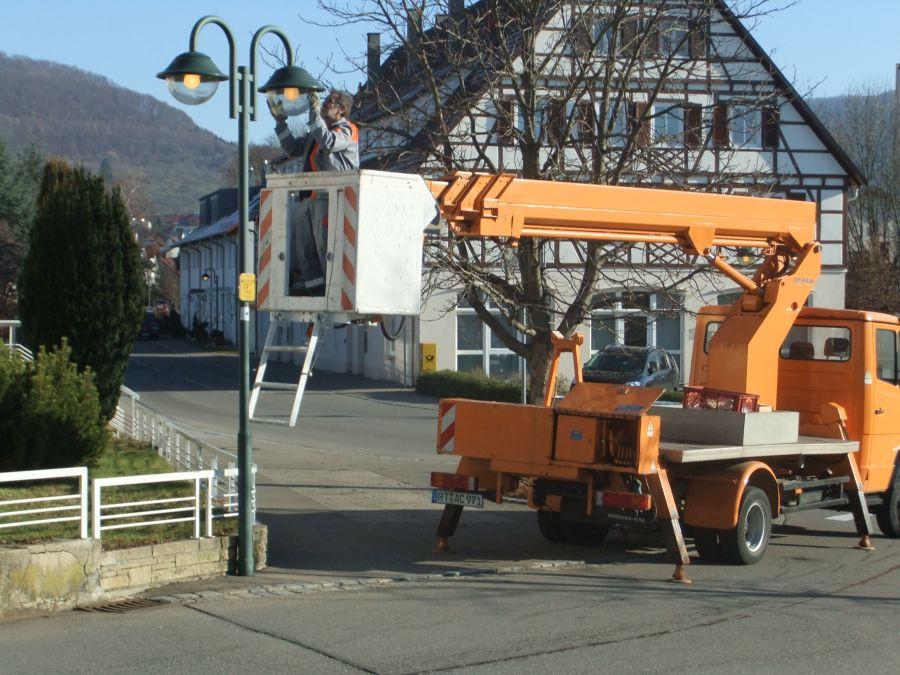 Straßenbeleuchtungswartung