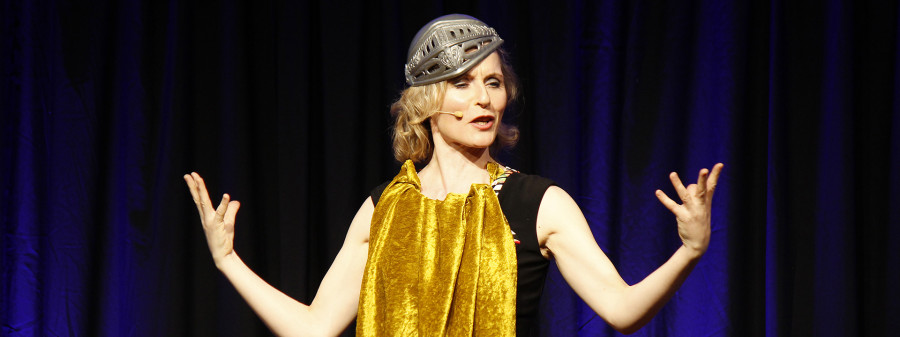 Maria Vollmer trat im März 2020 an den Kabarett-Tagen auf