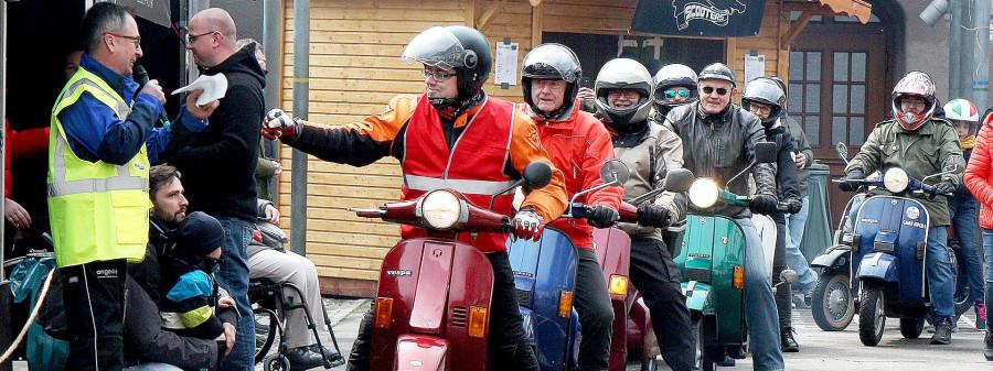 Abfahrt der Goißkopf-Motorrad-Tour