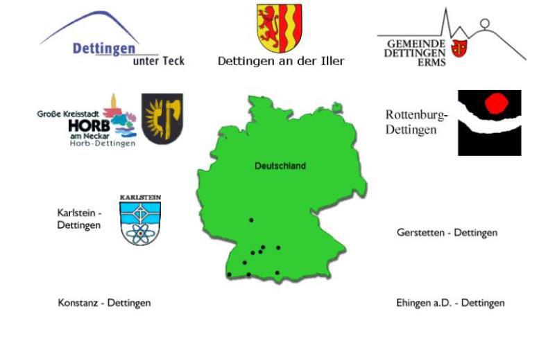 Weitere Orte mit dem Namen Dettingen