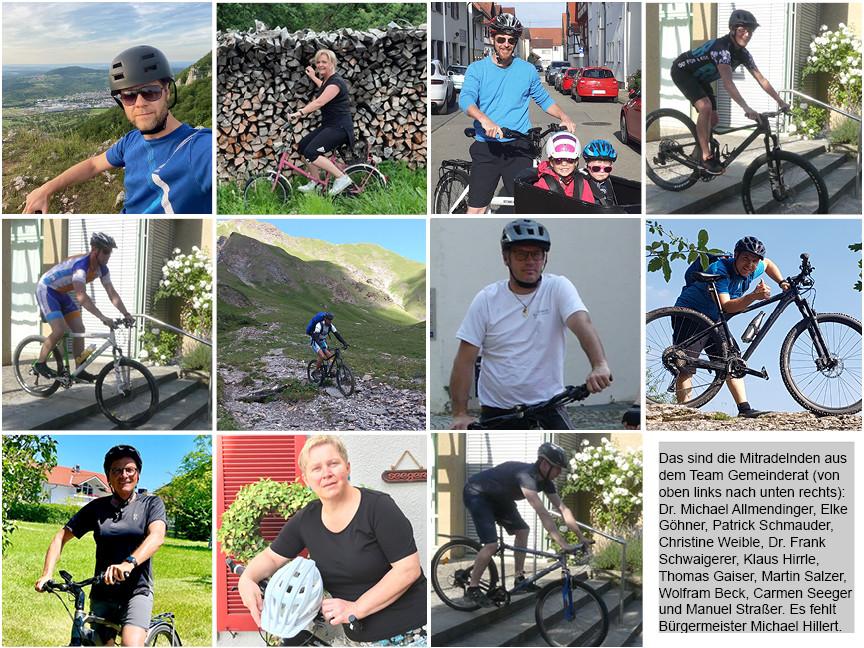 Die Radlerinnen und Radler des Teams Gemeinderat 2021